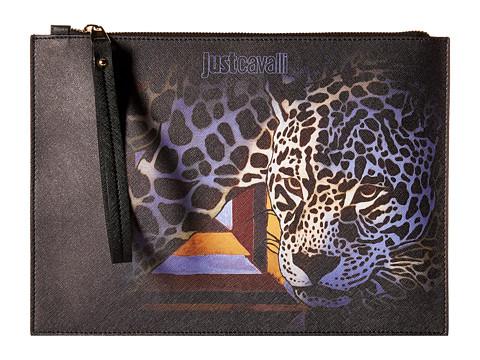Just Cavalli Printed Eco Saffiano w/ Leopard