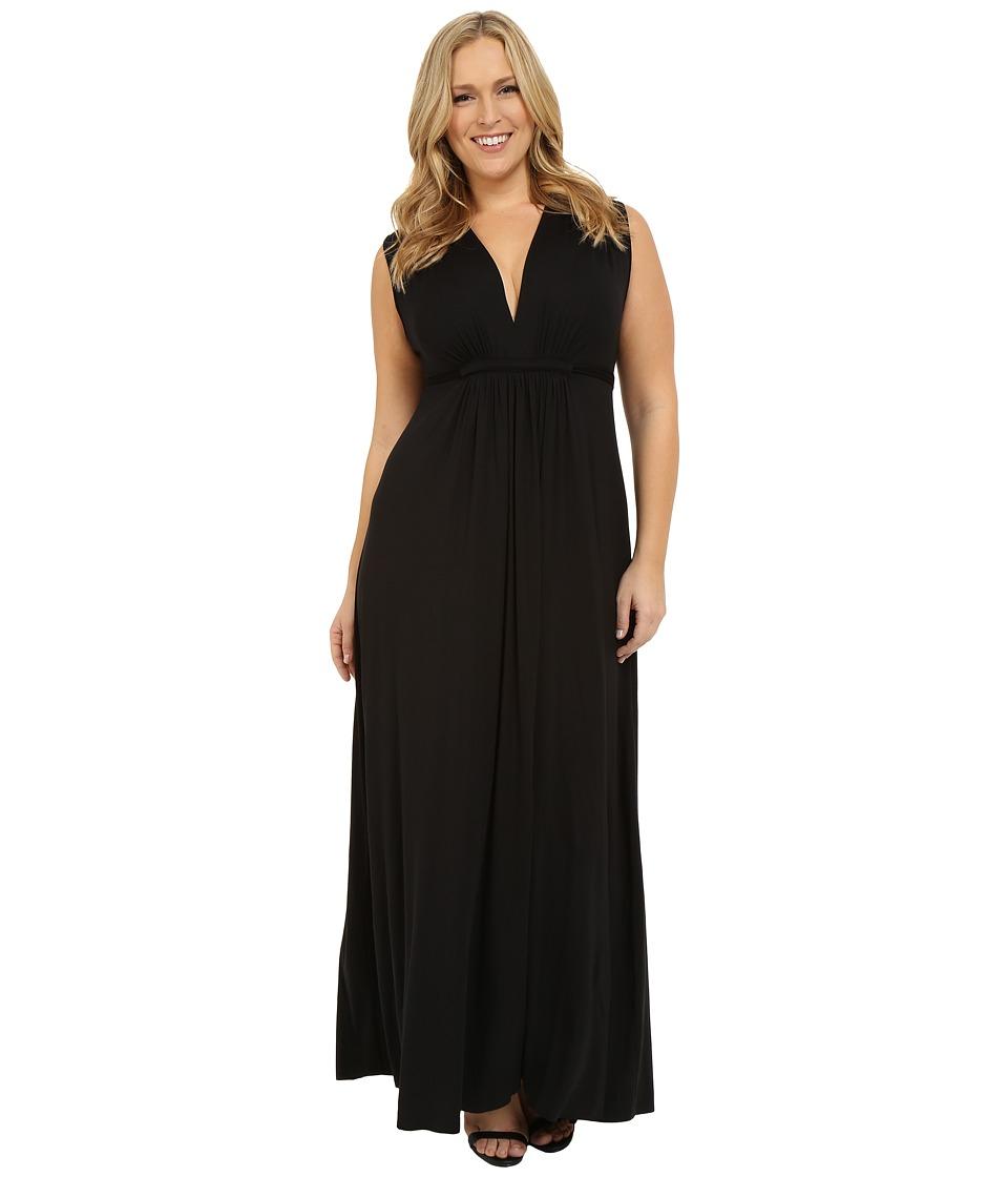 Rachel Pally Plus Size Long Sleeveless Caftan (Black) Women