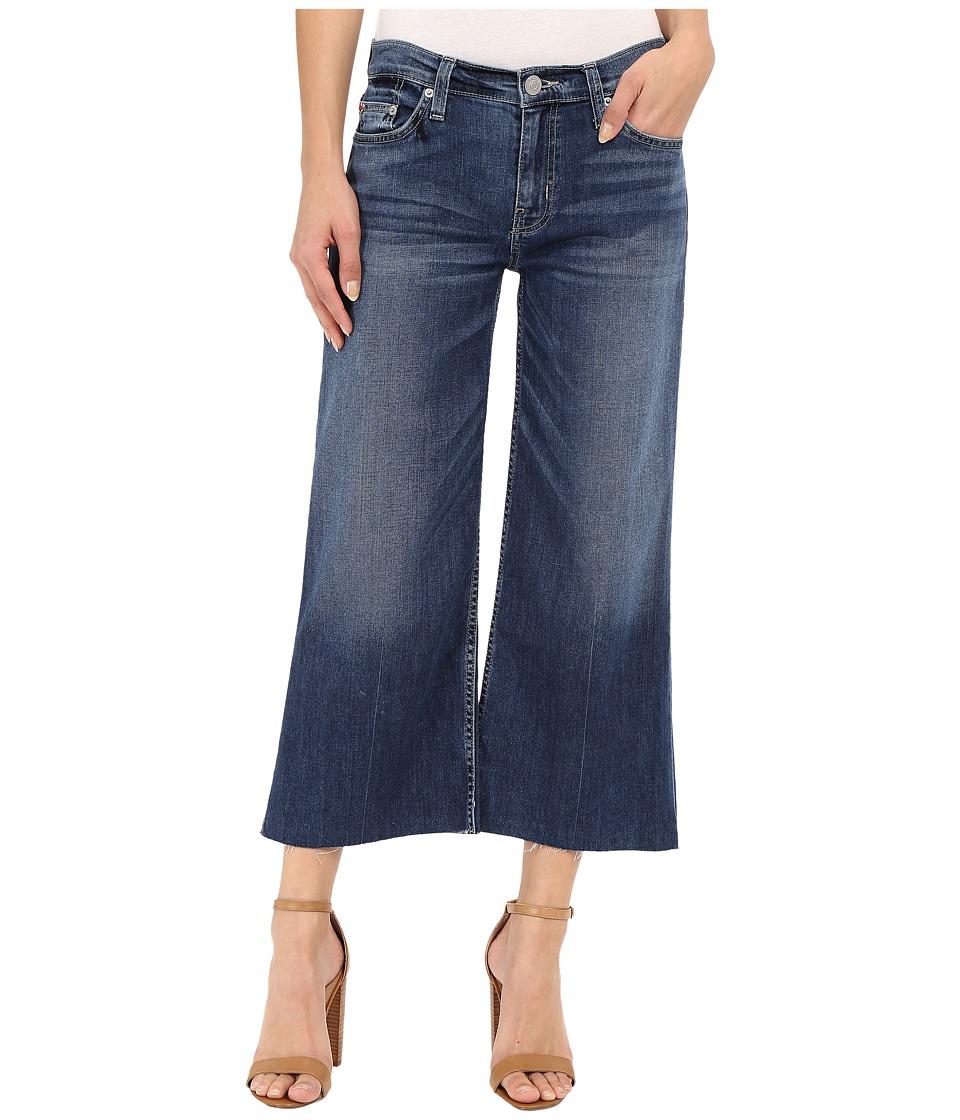 Hudson Sammi Wide Leg Crop with Raw Hem in Stingray Stingray Womens Jeans