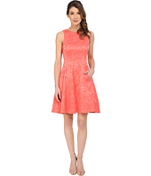 Maggy London - Plisse Rose Fit and Flare Dress