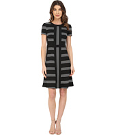 Maggy London - Pucker Stripe Fit and Flare Dress