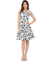 Maggy London - Stencil Daisy Print Faille Fit and Flare Dress