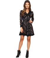 Just Cavalli - Lurex Knit Chevron Long Sleeve Dress