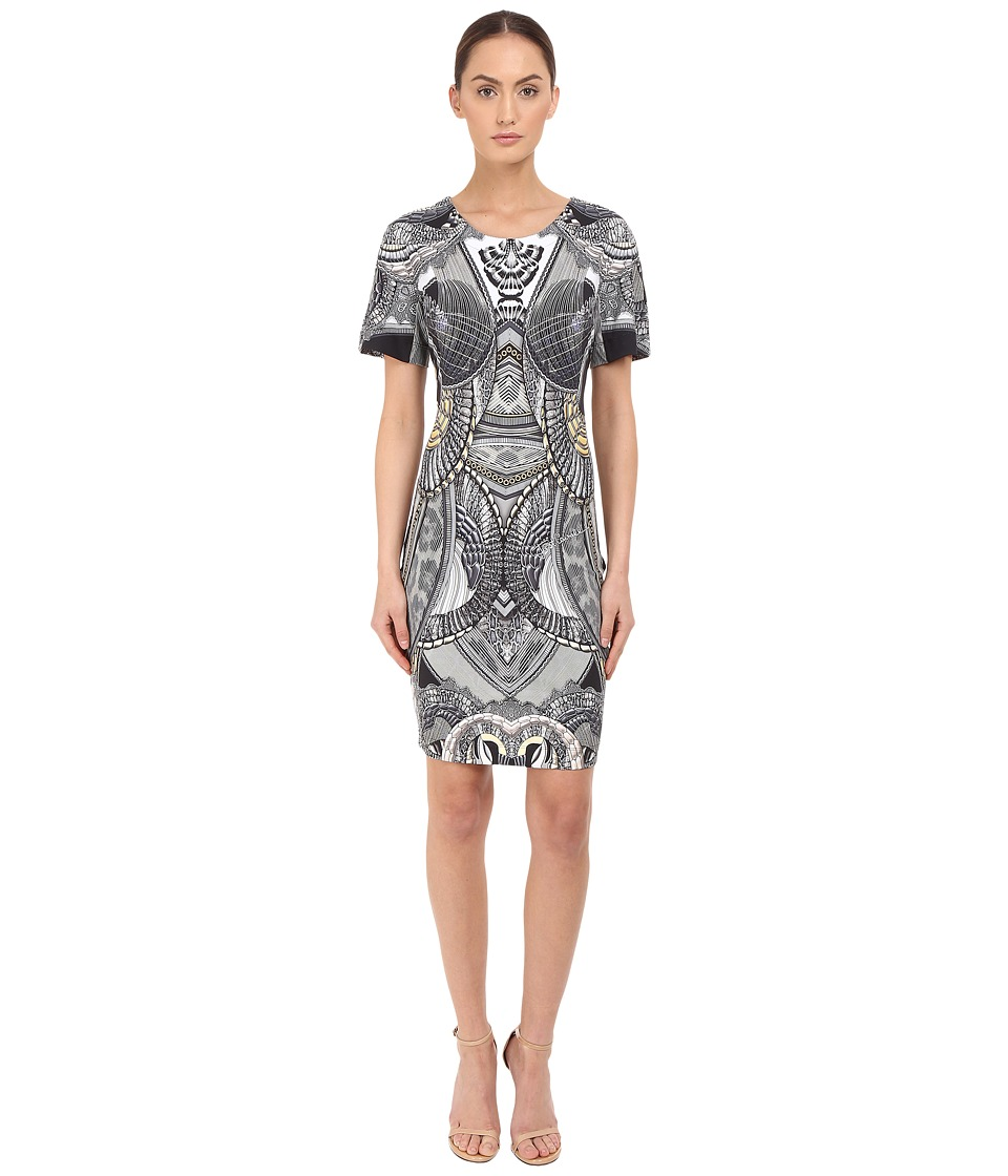 Just Cavalli Leo Snake Bodycon Jersey Dress Black Womens Dress