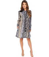 Just Cavalli - Python Cortex Print Long Sleeve Skirt Dress