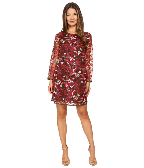 Just Cavalli Pansy Embroidered Sheath Dress
