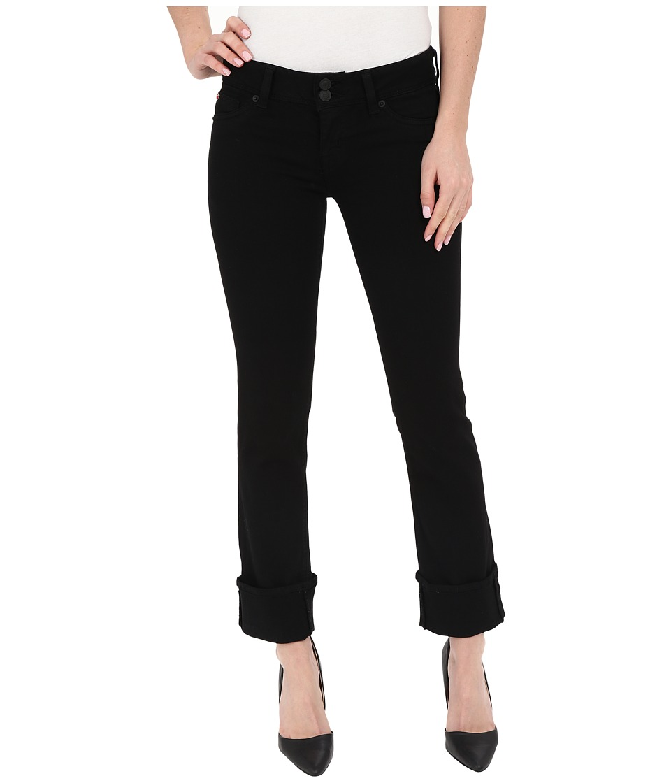 Hudson Ginny Crop Stratight with Cuff in Black (Black) Women