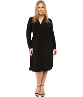MICHAEL Michael Kors - Plus Size Long Sleeve Faux Wrap Dress