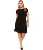 MICHAEL Michael Kors - Plus Size Short Sleeve Dress w/ Pleated Hem
