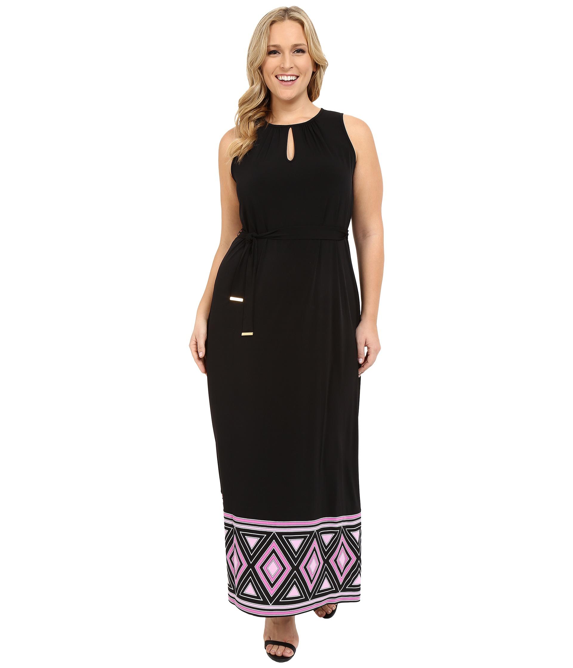 MICHAEL Michael Kors Plus Size Border Maxi Tank Dress