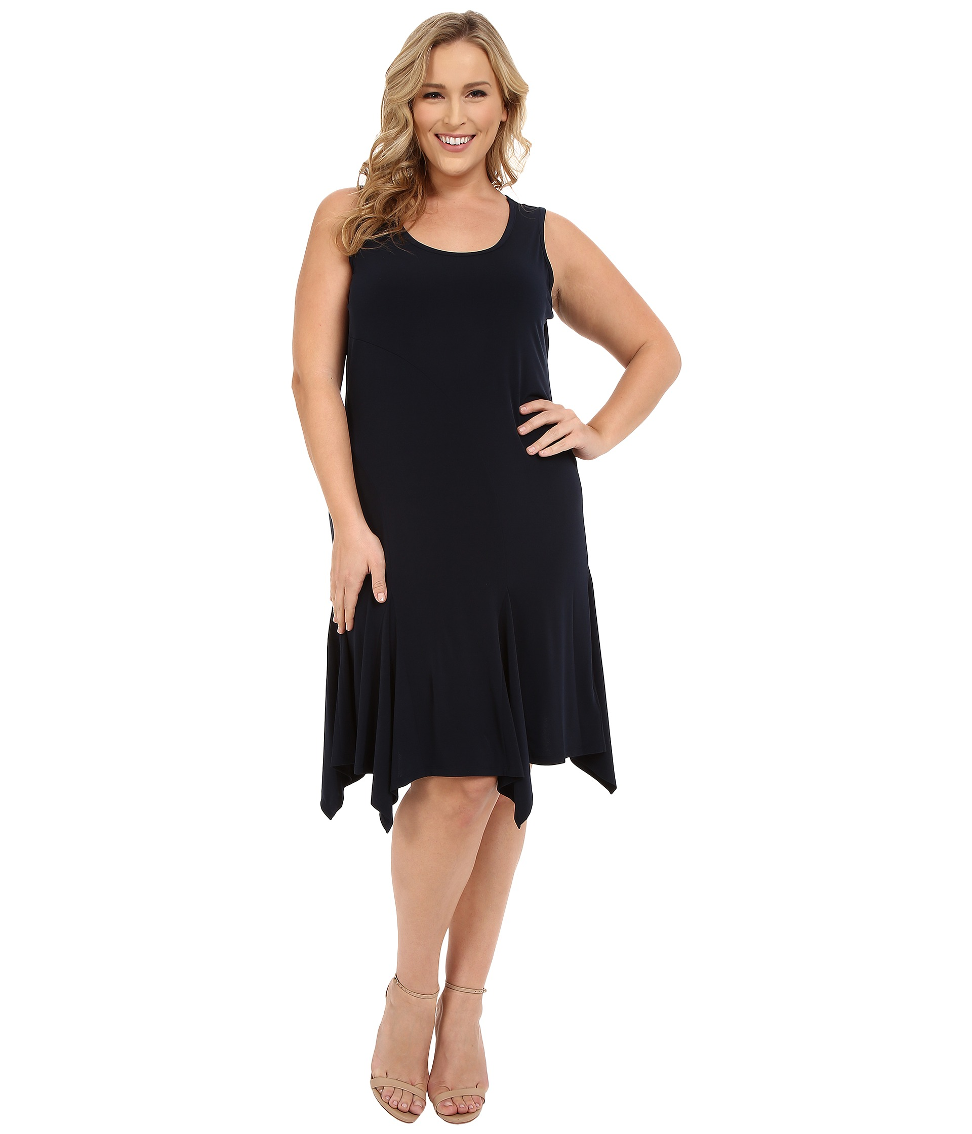MICHAEL Michael Kors Plus Size Curve Seam Tank Dress at 6pm.com