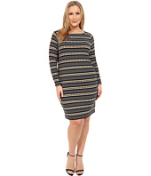 MICHAEL Michael Kors - Plus Size Carden Boat Neck Long Sleeve Dress