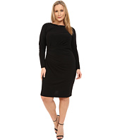 MICHAEL Michael Kors - Plus Size Boat Neck Side Drape Dress