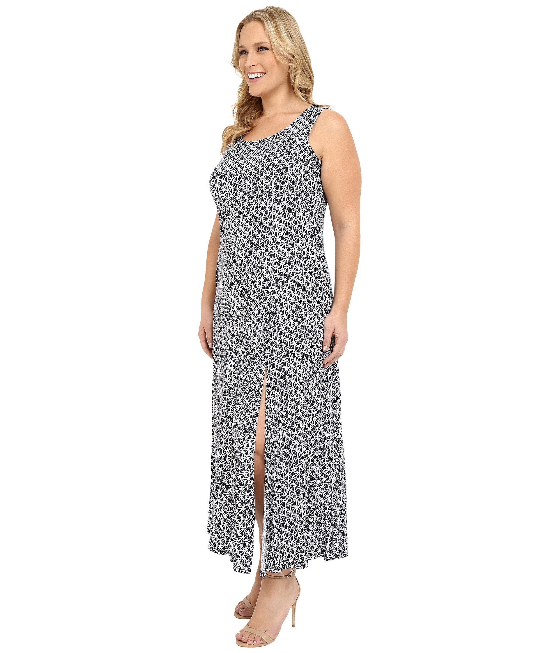 MICHAEL Michael Kors Plus Size Wax Print Maxi Tank Dress