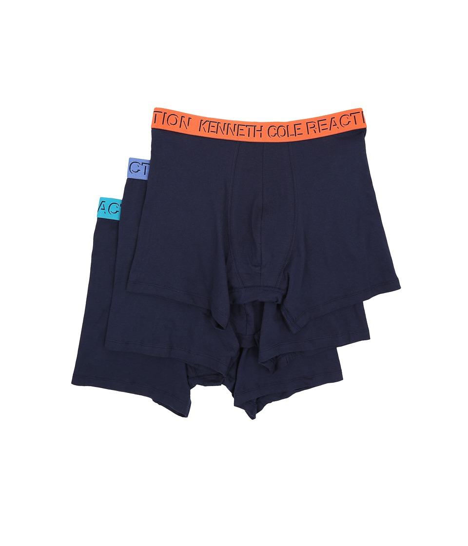 Kenneth Cole Reaction 3 Pack Boxer Brief Black Iris Mens Underwear