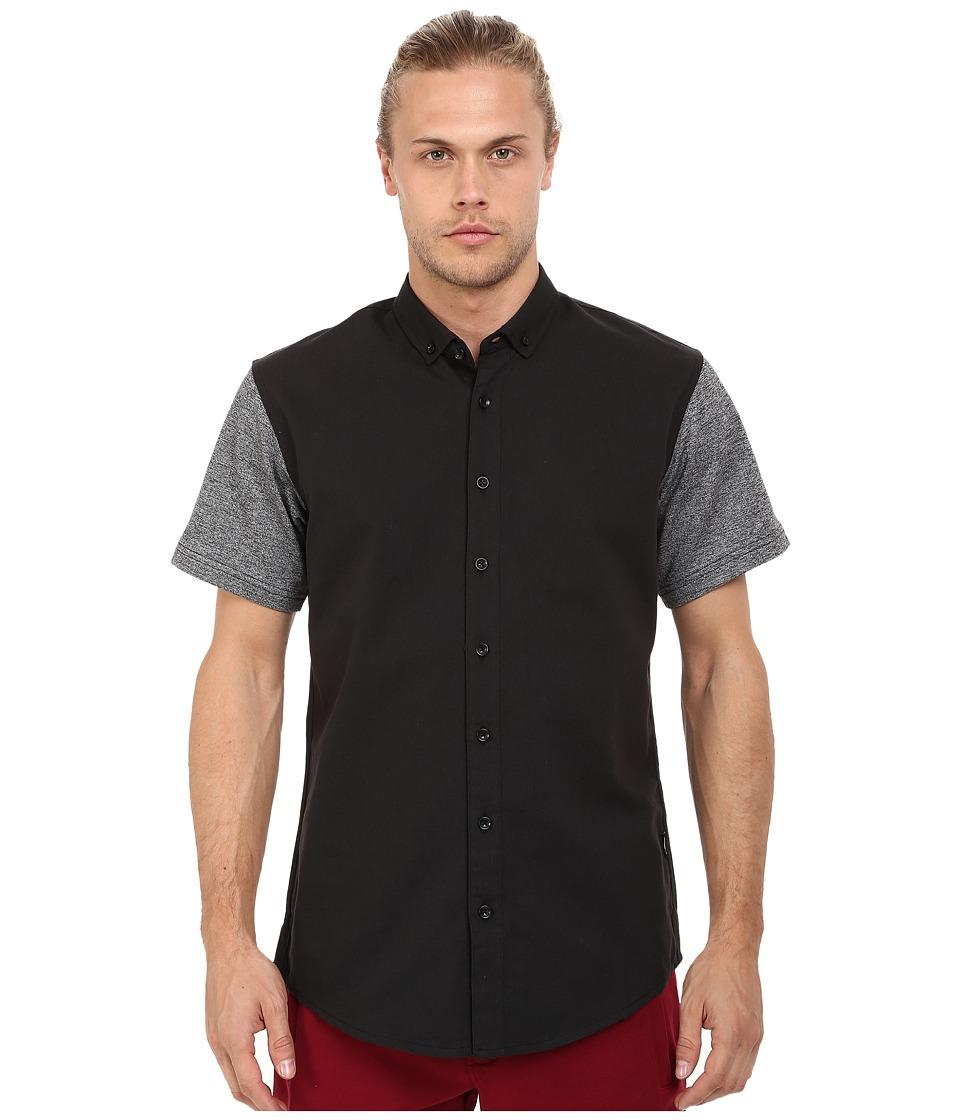 Publish Hans Premium Oxford Short Sleeve Button Up Black Mens Clothing