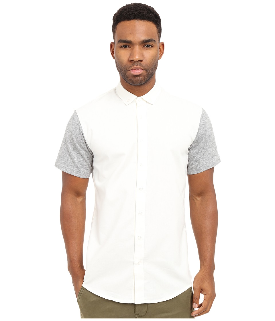 Publish Hans Premium Oxford Short Sleeve Button Up White Mens Clothing