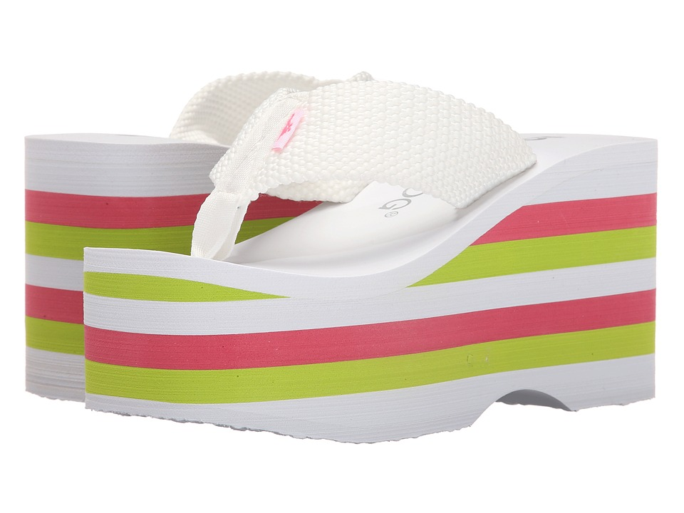Rocket Dog Bigtop White Webbing Multi Womens Sandals