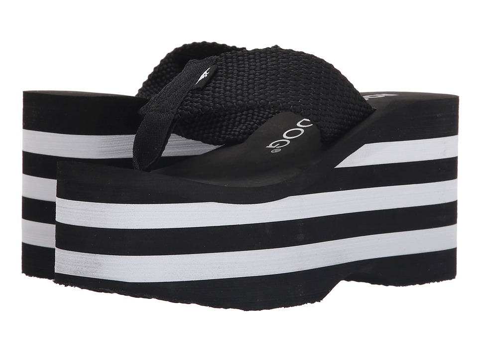 Rocket Dog Bigtop Black Webbing Multi Womens Sandals