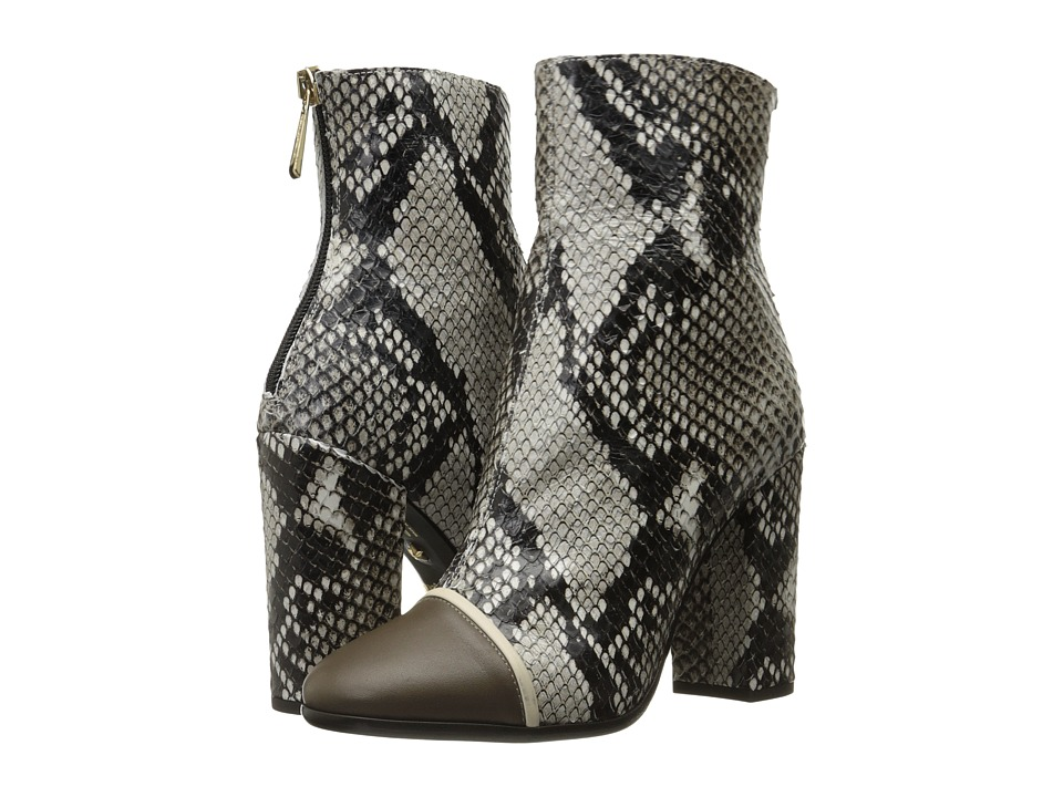 Just Cavalli - Python Printed High Heel Ankle Bootie (Caribou) Women