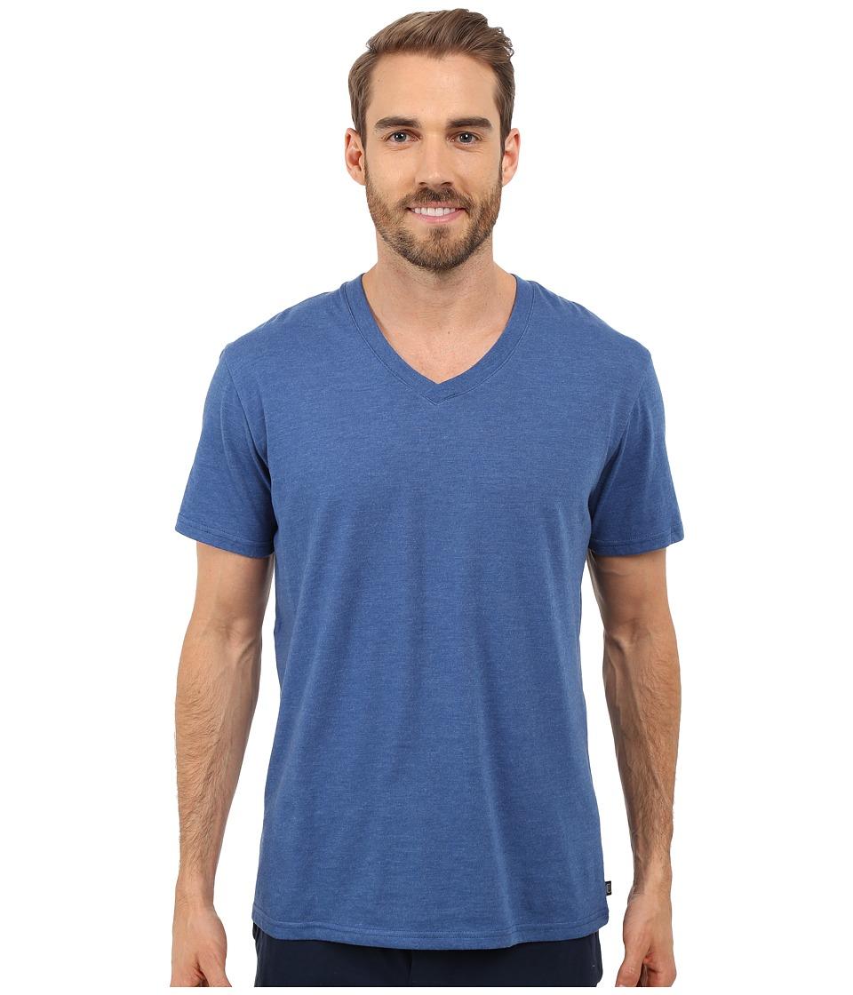 Kenneth Cole Reaction Heather V Neck Tee Dark Blue Mens T Shirt