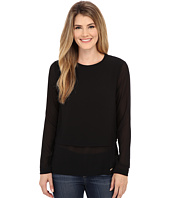 MICHAEL Michael Kors - Long Sleeve Double Layer Short Sleeve Top
