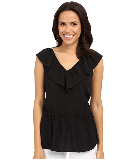MICHAEL Michael Kors V-Neck Ruffle Top