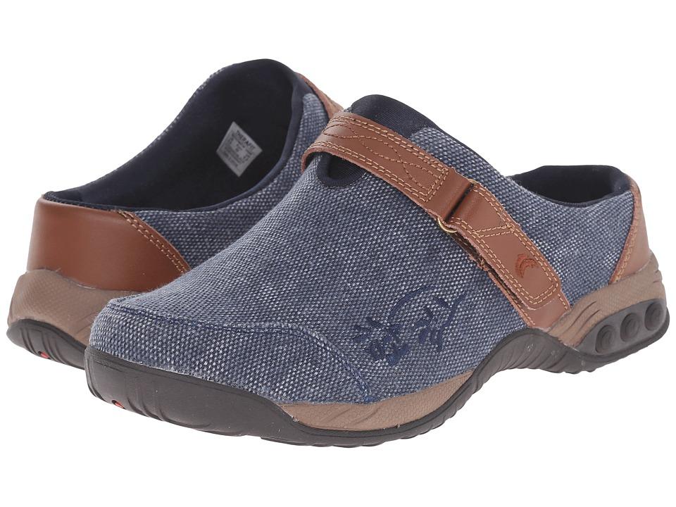 THERAFIT Austin Denim Denim/Navy Womens Flat Shoes