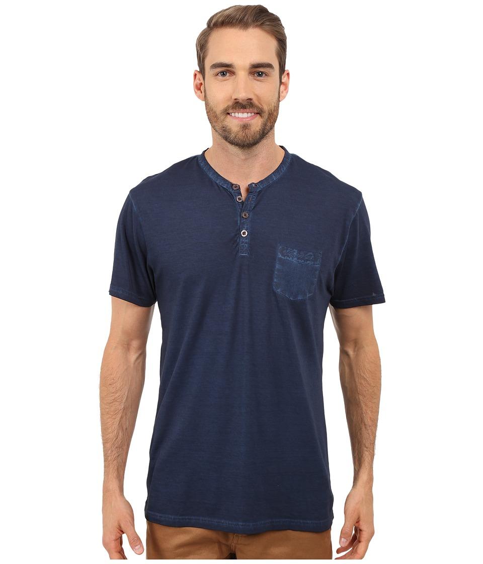 Kenneth Cole Reaction Henley Neck T Shirt Navy Mens T Shirt