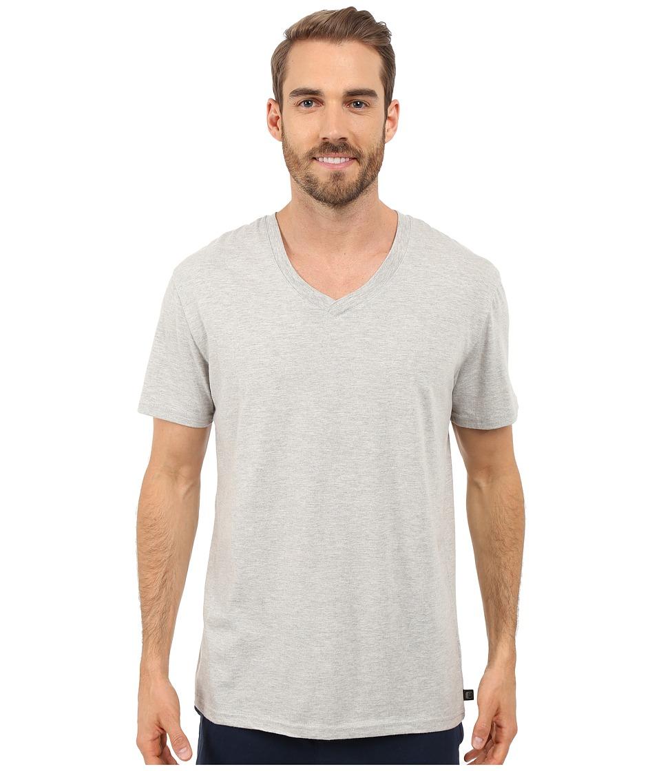 Kenneth Cole Reaction Heather V Neck Tee Light Grey Heather Mens T Shirt
