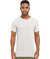 Publish - Janek - Heathered Terry Short Sleeve Tee Elongated with Side Split Hem