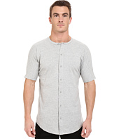 Publish - Malachy - Cotton Knit Seamless Short Sleeve Button Up Tee with Side Split Hem