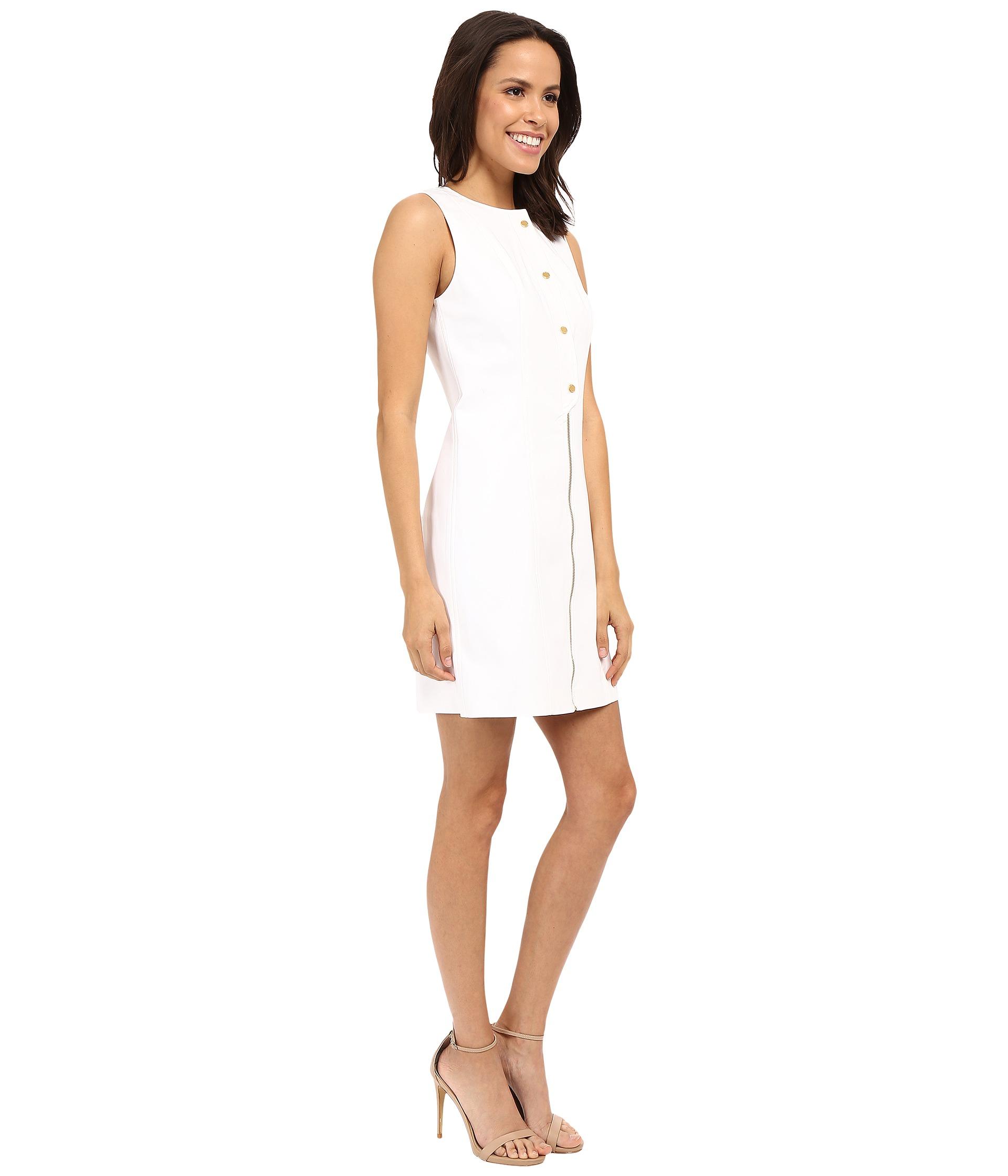 MICHAEL Michael Kors Placket Detail Dress White Zappos