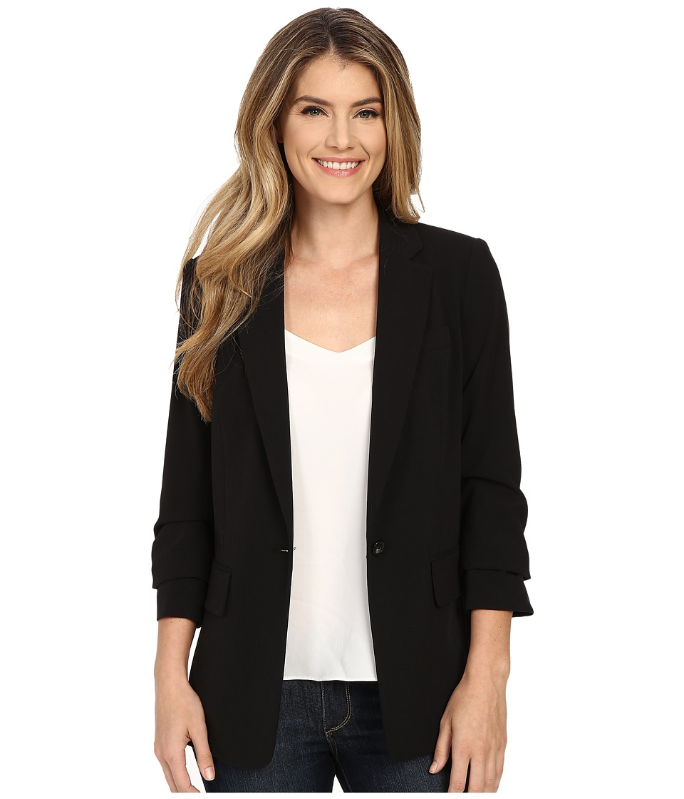 Michael Kors New Boyfriend Blazer (Black) Women's Jacket