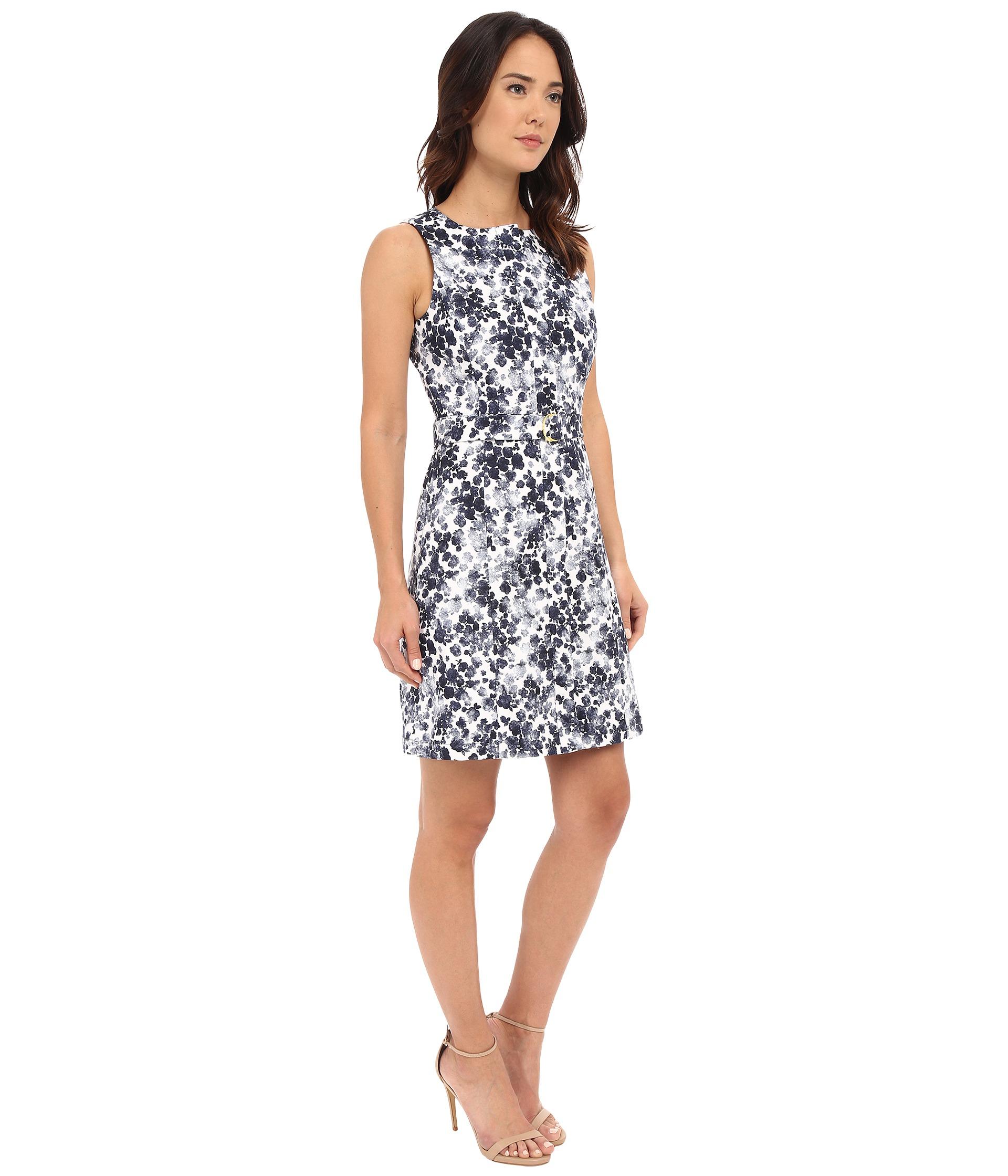 MICHAEL Michael Kors Aline Belt Dress New Navy Zappos