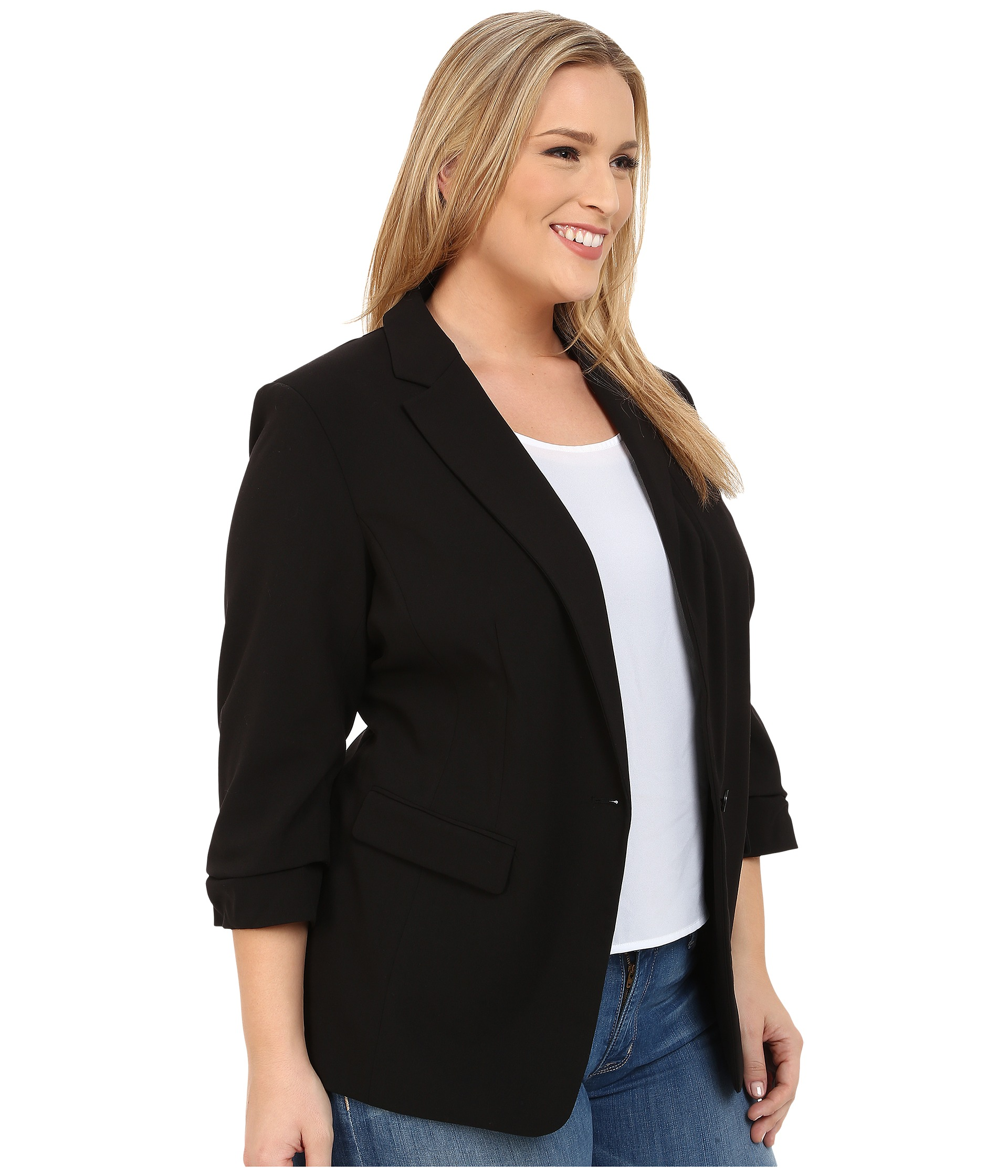 Shop dressbarn for the latest in plus size jones studio® blazers & toppers. You'll discover on trend styles in a variety of patterns and prints that can be worn for any occasion. Add some extra flair to your weekend or workwear wardrobe with plus size jones studio® blazers & toppers.