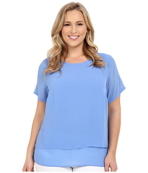 MICHAEL Michael Kors - Plus Size Back Cut Out Top (Crew Blue) Women's Clothing
