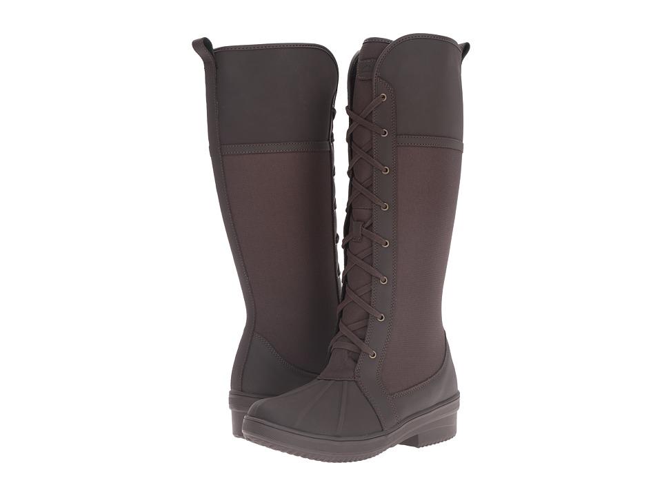 Clarks Carima Pluma (Dark Brown Leather/Texile Combo) Women