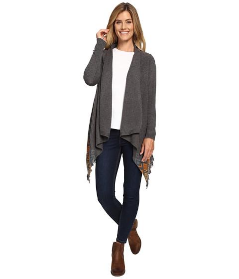 Woolrich Long Way Fringe Cardigan - Gray Heather