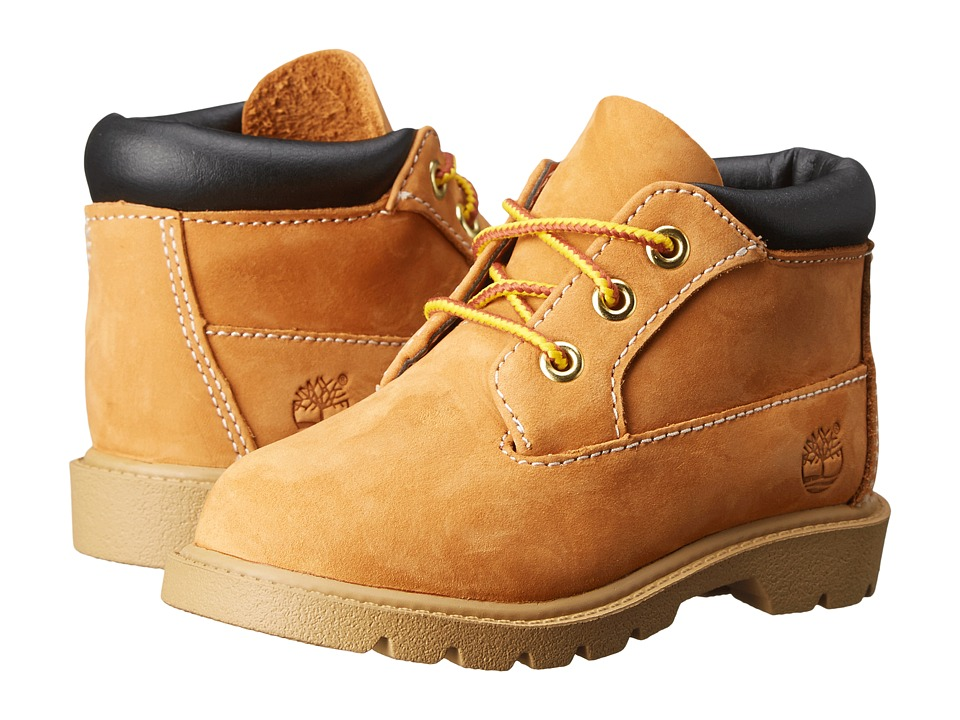 Timberland Kids 3 Eye Chukka (Toddler/Little Kid) (Butter Pecan Nubuck) Boys Shoes