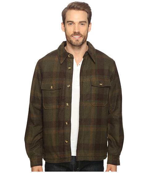 Woolrich Charley Wool Shirt Jac - Olive Plaid