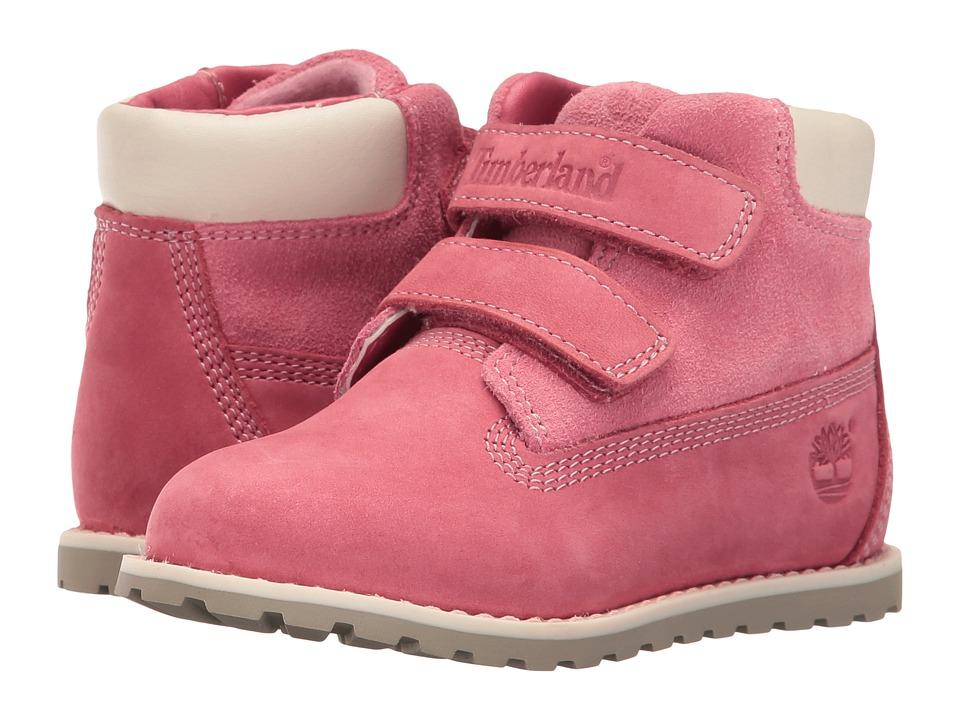 Timberland Kids - Pokey Pine Hook and Loop (Toddler/Little Kid) (Pink Nubuck) Girls Shoes