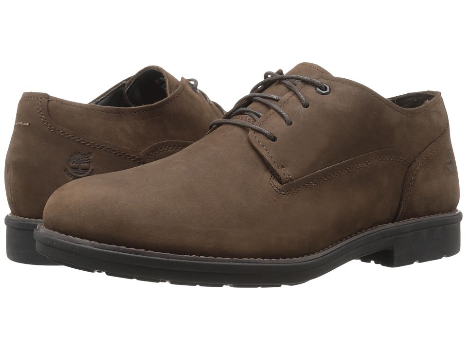 Timberland Carter Notch Waterproof Plain Toe Oxford (Medium Brown Full Grain) Men