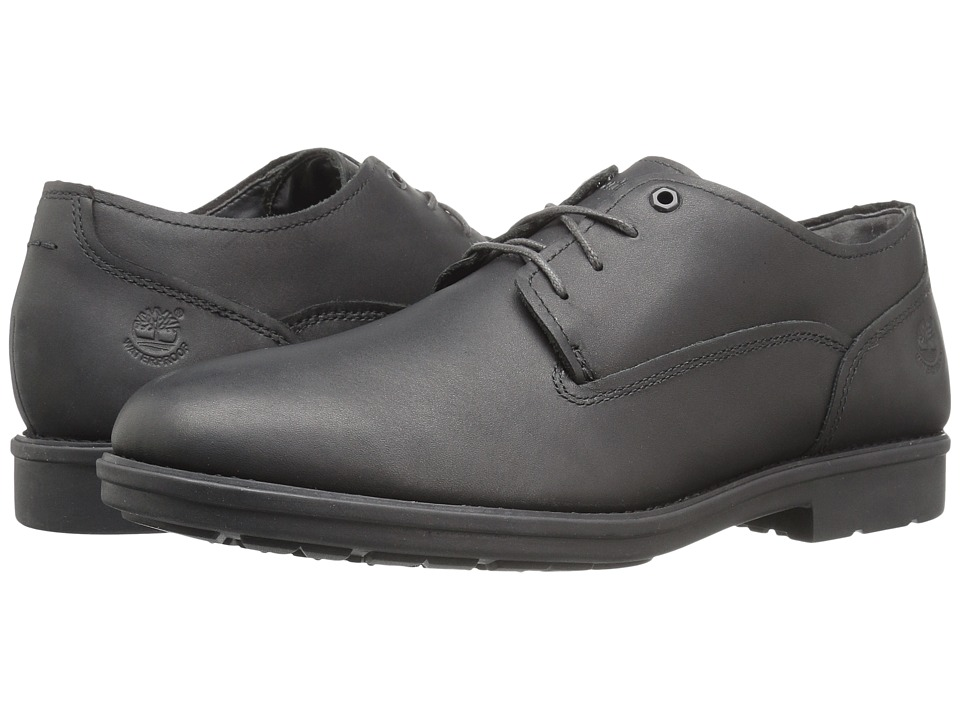 Timberland - Carter Notch Waterproof Plain Toe Oxford (Black Full Grain) Men's Lace up casual Shoes