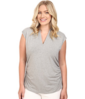 Vince Camuto Plus - Plus Size Sleeveless Pleat V-Neck Top