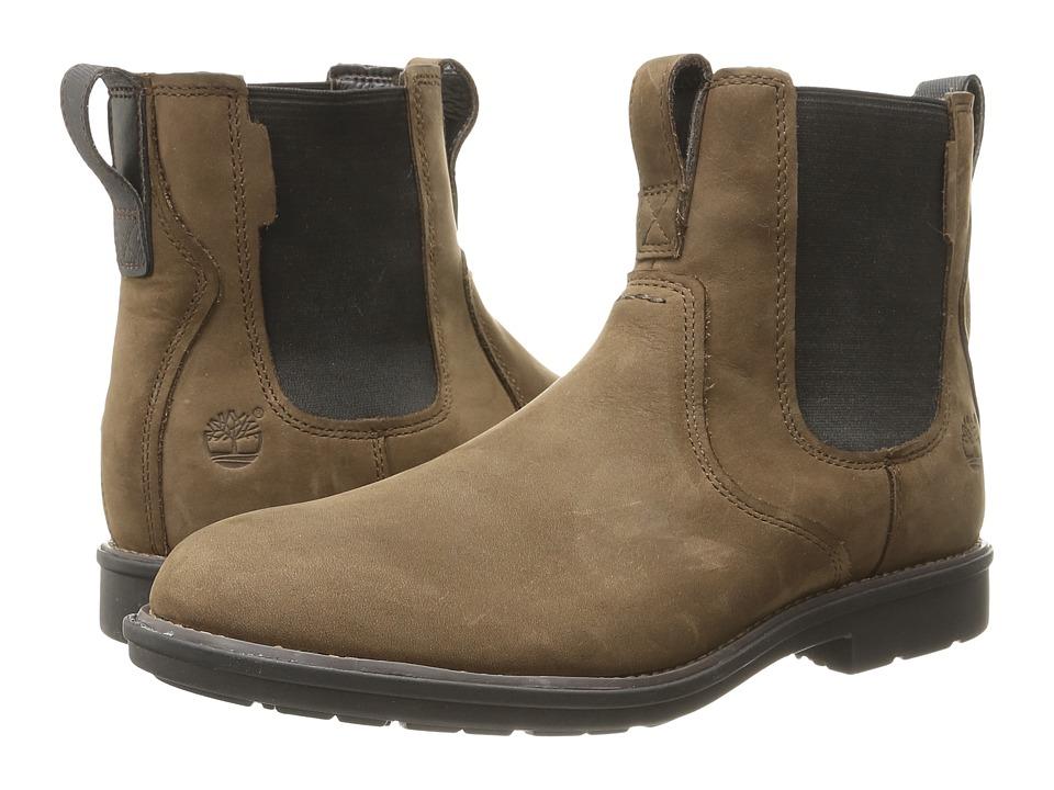 Timberland - Carter Notch Plain Toe Chelsea (Medium Brown Full Grain) Men
