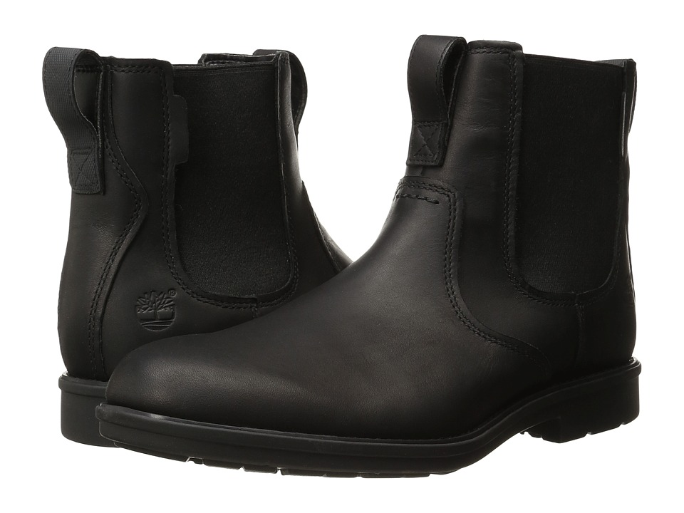 Timberland Carter Notch Plain Toe Chelsea (Black Full Grain) Men