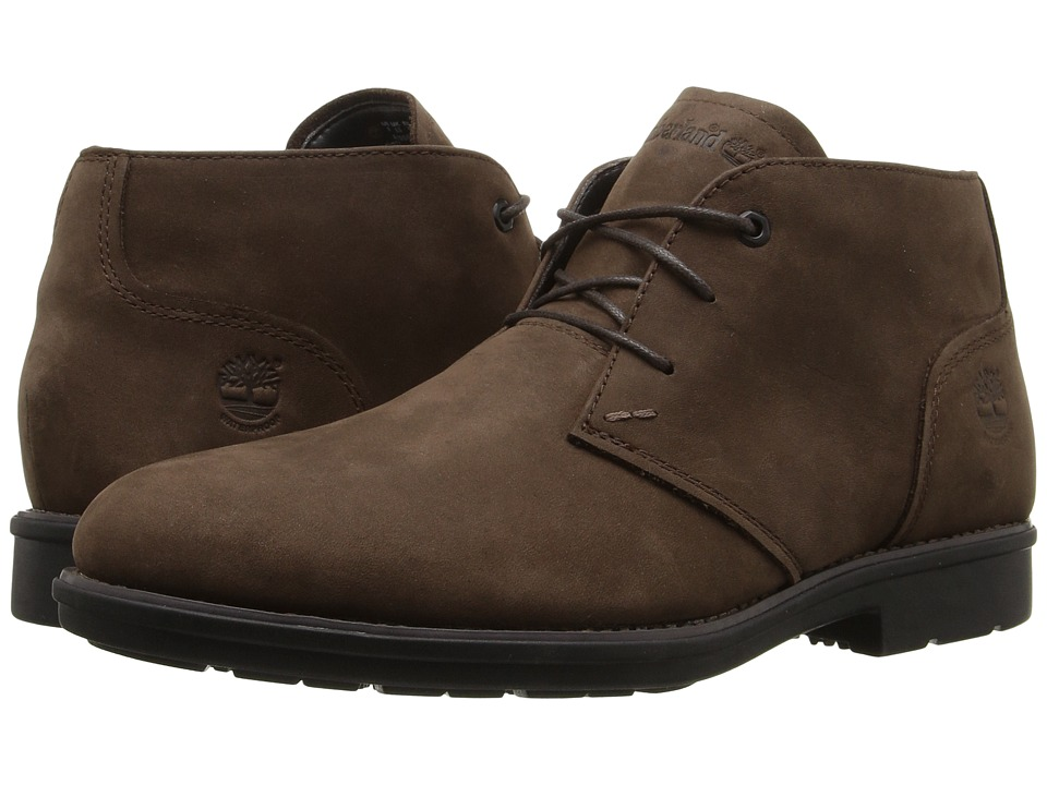 Timberland Carter Notch Waterproof Plain Toe Chukka (Medium Brown Full Grain) Men