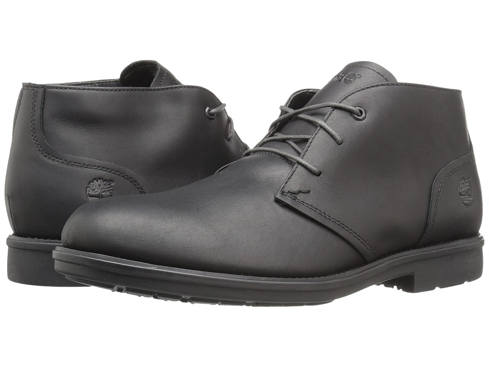 Timberland Carter Notch Waterproof Plain Toe Chukka (Black Full Grain) Men