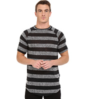 Publish - Rojan - Striped Loose Gauge Knit Short Sleeve Raglan